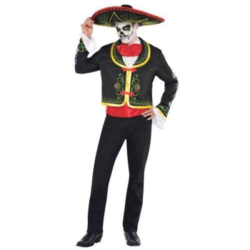 Da Uomo Giorno dei Morti Senor Costume Di Halloween Costume Vestito di dimensioni standard