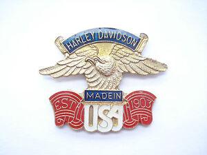 SALE - HARLEY DAVIDSON MOTORCYCLES CLUB BIKE SIGN USA US HELLS ANGELS PIN BADGE