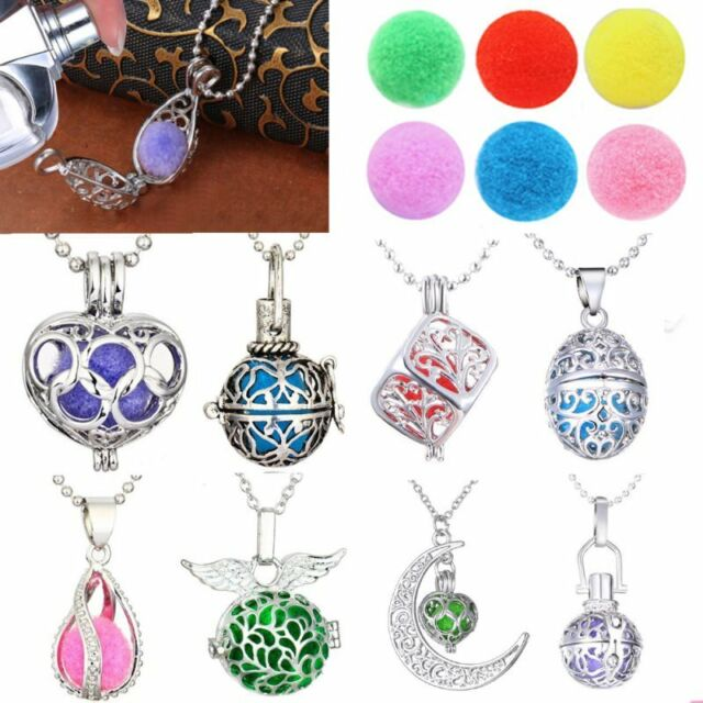 Perfume Fragrance Essential Oil Aromatherapy Diffuser Locket Pendant Necklace
