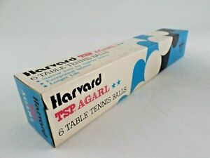 Details About Vtg Harvard Agarl White 2 Star Table Tennis Balls Ping Pong Japan New Box Of 6