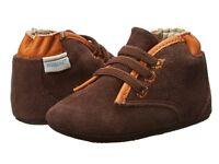Robeez David Mini Shoez Baby Boy's Leather Shoes, Brown, Size 2 (3-6 Months)