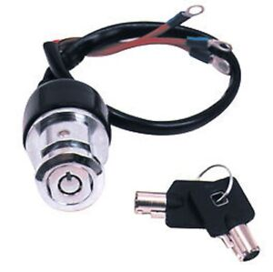 Details about ROUND KEY IGNITION SWITCH 3 POSITION 3 WIRE HARLEY DYNA on