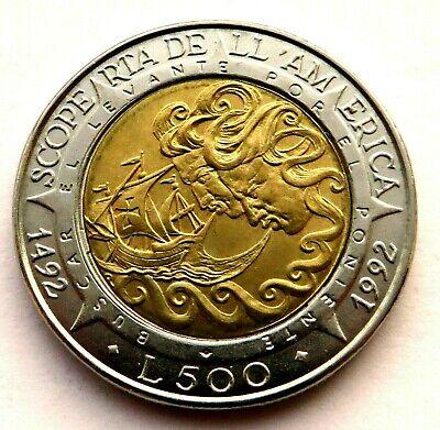 KM286 San Marino 1992 500 Lire Uncirculated