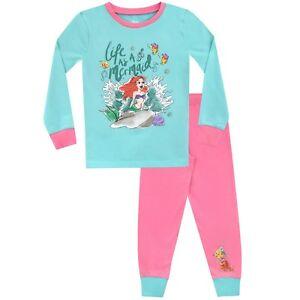 96bbc230f4 Details about The Little Mermaid Pyjamas | Kids Disney Ariel PJs | Disney  Princess Pyjama Set
