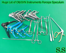 Huge Lot Of Obgyn Instruments Forceps Speculum Surgical Medical Gynecology New