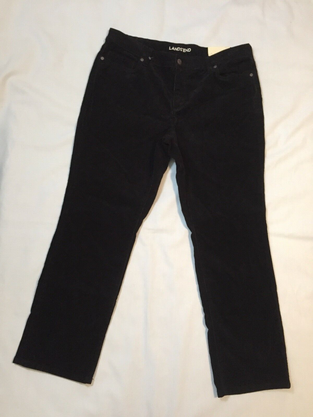 Lands' End Women's Mid Rise Straight Leg Corduroy Pants Size 14P New with Tags