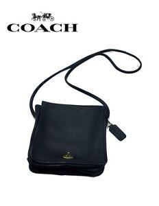 Carré Vintage Coach Porte monnaie Noir Sacoche N° 5qZq7ATr