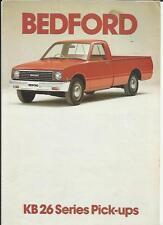 BEDFORD KB 26 PICK UP  TRUCK LORRY SALES BROCHURE 1981 1982