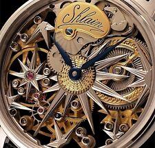 Alta fino reloj Hombre, mano grabado, eta 6497-1, unitas. skelettuhr.