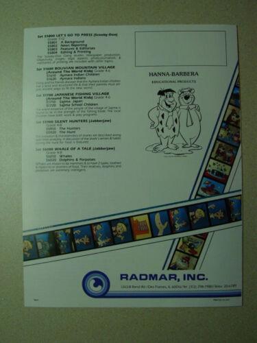 HANNA-BARBERA Filmstrip Set Scooby Doo Gang Help Wanted NEW Resume Educational