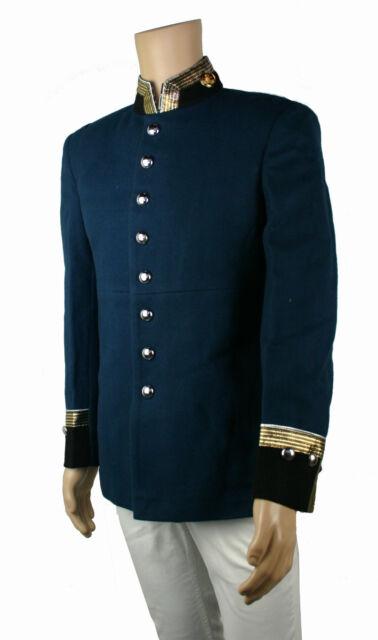 Uniform Waffen Rock Pickelhaube Blauer Tschako Uniformjacke Preussen Larp KV35