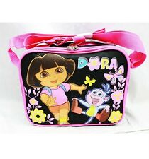 NWT Dora the Explorer Black Insulated Lunch Box Bag Newest Style by Nickelodeon