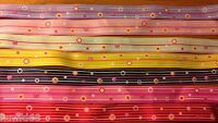 7 x 28cm 15mm Mixed Bubble Shapes Grosgrain Ribbon Cardmaking Scrapbooking