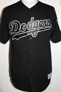 Image is loading MLB-Los-Angeles-Dodgers-Cool-Base-Custom-Black- 11691ac80