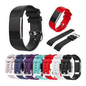 For-Fitbit-Charge2-Replacement-Wrist-Band-Silicon-Strap-Bracelet-Buckle-Size-S-L
