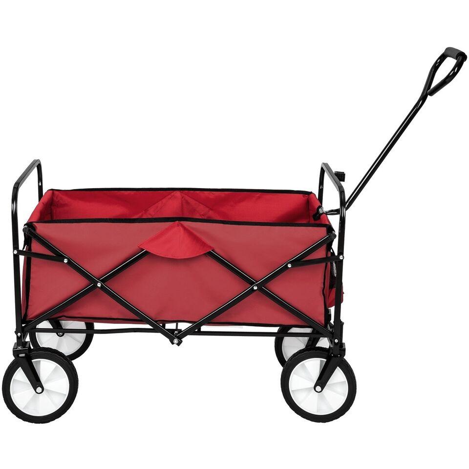 Foldbar trækvogn rød
