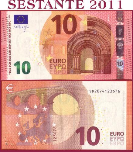"EUROPEAN UNION  ITALY 10 EURO 2014 Sign DRAGHI  /""SD/""  S003B3 UNC com P 21s"