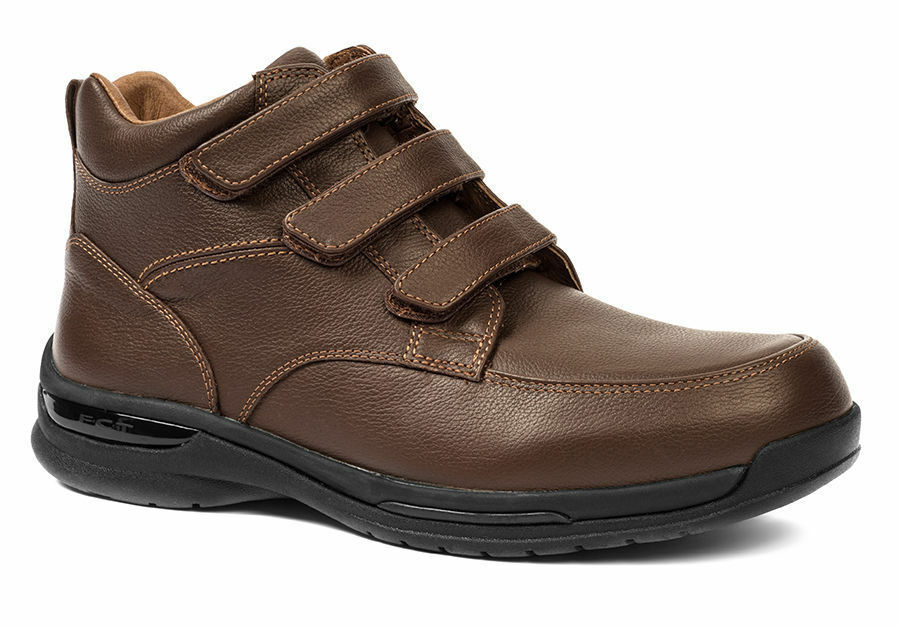 Oasis Jackson Hook & Loop Men's Extra-Depth Leather Casual Boots - New in Box