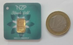 Goldbarren-0-05-Gramm-999-9-feingold-Gold-Barren-0-05-g-NEU-Kapitalanlage