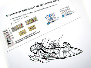 CUSTOM DIE CUT STICKERS For STAR WARS VINTAGE TATOOINE SKIFF - Star wars custom die cut stickers