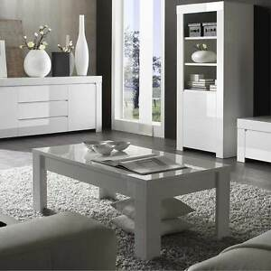 Tavolino da salotto da fumo moderno Amalfi bianco lucido sala ...
