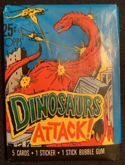 (HCW) 1988 Topps Dinosaurs Attack Sealed Wax Hobby Trading Pack PK-127