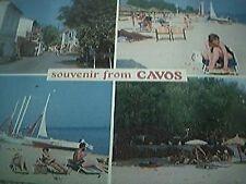 postcard unused old corfu kavos cavos 4 view card