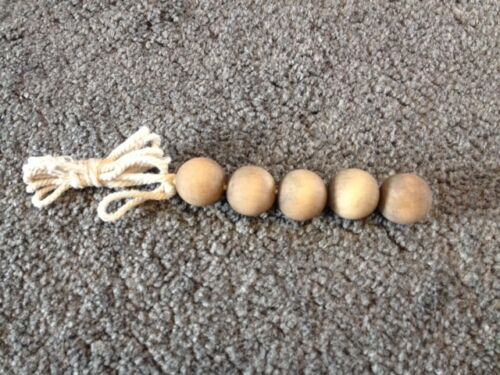 NEW * Natural Wooden Balls Light Pull with Cord