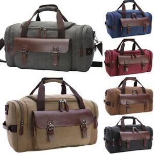 Mens-Large-Shoulder-Luggage-Canvas-Travel-Tote-Duffle-Bag-Gym-Sports-Handbag