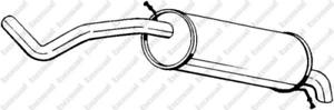 Endschalldämpfer für Abgasanlage BOSAL 278-039