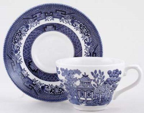 Lot de 6 thé tasses soucoupe Churchill Willow assiette tasse café thé lait Dinning nouveau