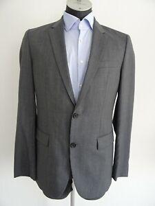Hugo-Boss-The-Grand1-Central1-Herren-Anzug-Suit-Gr-98-Grau-100-Wolle-Sakko-Hose