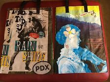 North Carolina & PDX Trader Joe's BAGS reusable Shopping grocery Tote ECO NWT