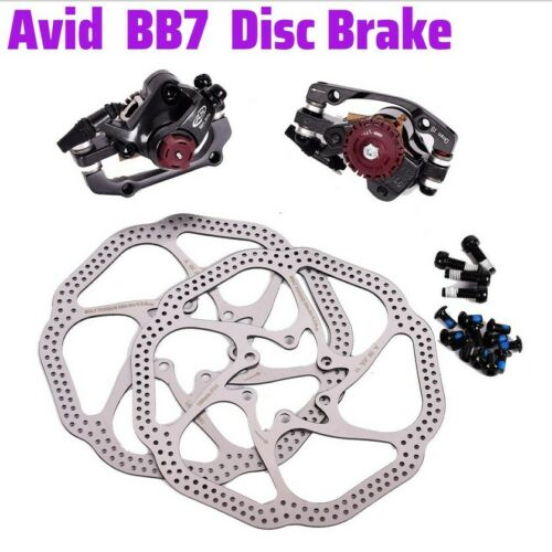 Avid Kit BB7 Mechanical Disc Brake Bike Front and Rear Calipers 442g G3 Rotors