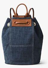 Michael Kors Krissy Large Indigo Blue Denim Backpack