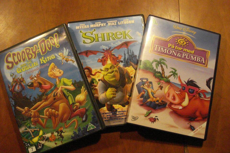 Shrek, DVD, tegnefilm