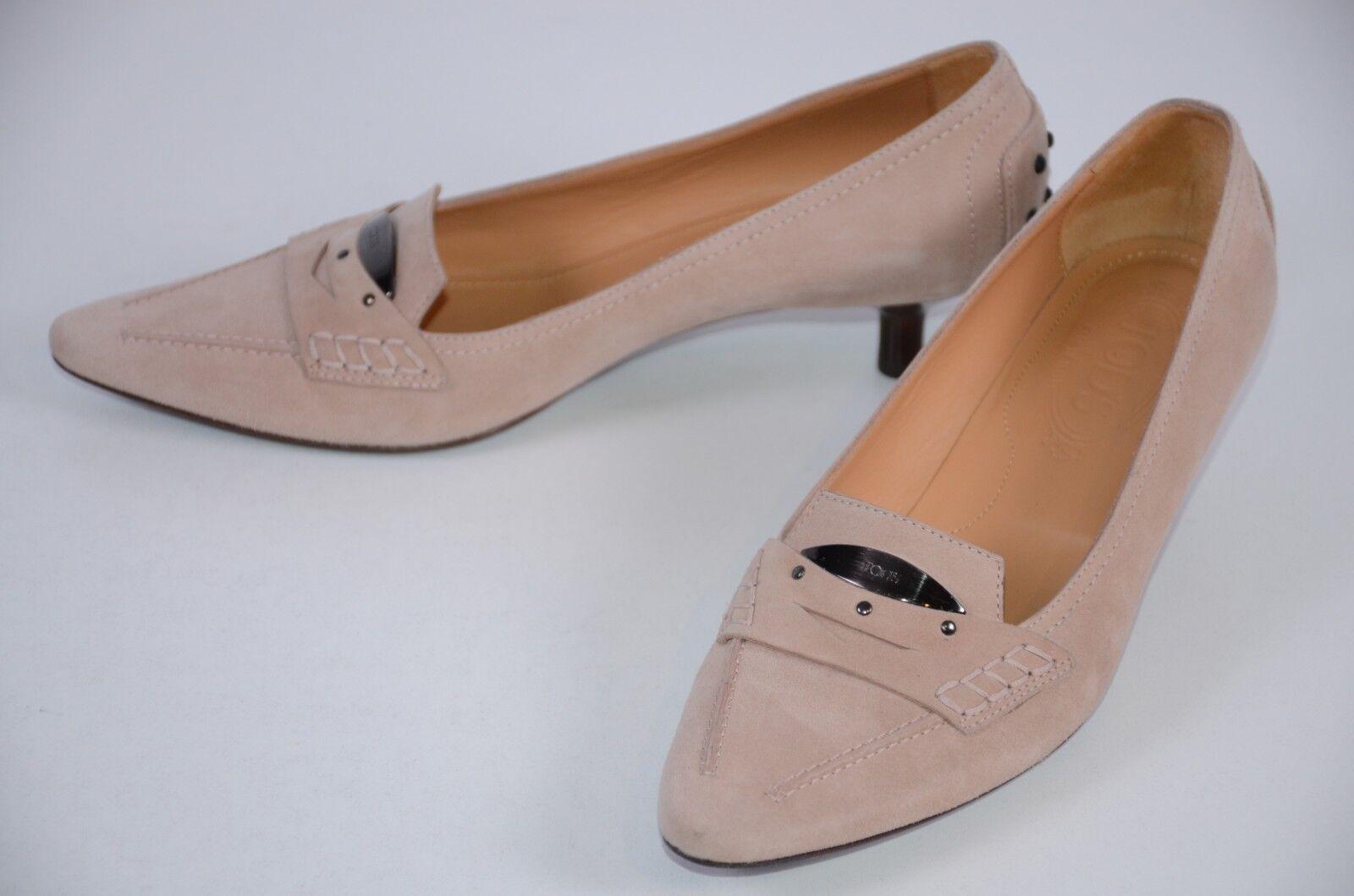 distribuzione globale Tod's Donna  scarpe Dimensione 8.5  Slip On Blush Blush Blush rosa Suede Kitten Heel Career  acquista online oggi
