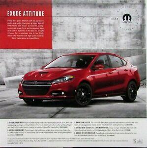 2017 Dodge Dart >> Details About 2017 Dodge Dart Mopar Performance Parts Accessories Sales Sheet Original