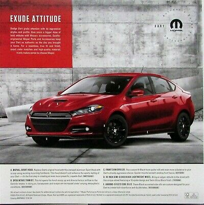 2017 Dodge Dart >> 2017 Dodge Dart Mopar Performance Parts Accessories Sales Sheet Original Ebay