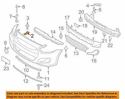 hyundai oem 12-17 accent front bumper-inner bracket 865551r000 bn22 | ebay  ebay