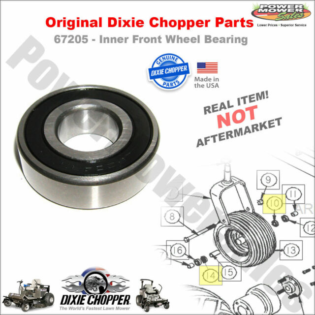 67205 Dixie Chopper Inner Front Wheel Bearing for LT1800-34 & More Lawn  Mowers