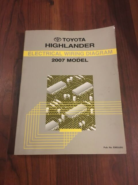2007 Toyota Highlander Electrical Wiring Diagram Manual
