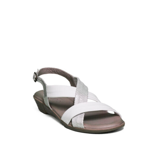 Bueno Shoes sandalo donna White-Tipo Silv.-Plata L1505 primavera estate 2019