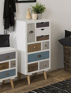 Retro Bedroom Furniture Vintage Chest Drawers Shabby Chic Tallboy