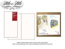 Midori Sketch Paper Notebook Refill Midori 012 Traveler's Notebook Regular Size