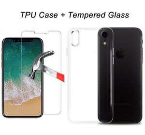quality design babbb d4616 Details about Apple iPhone X Clear Gel Case Stylish Ultra Thin AND Tempered  Glass Buy 1 get 1