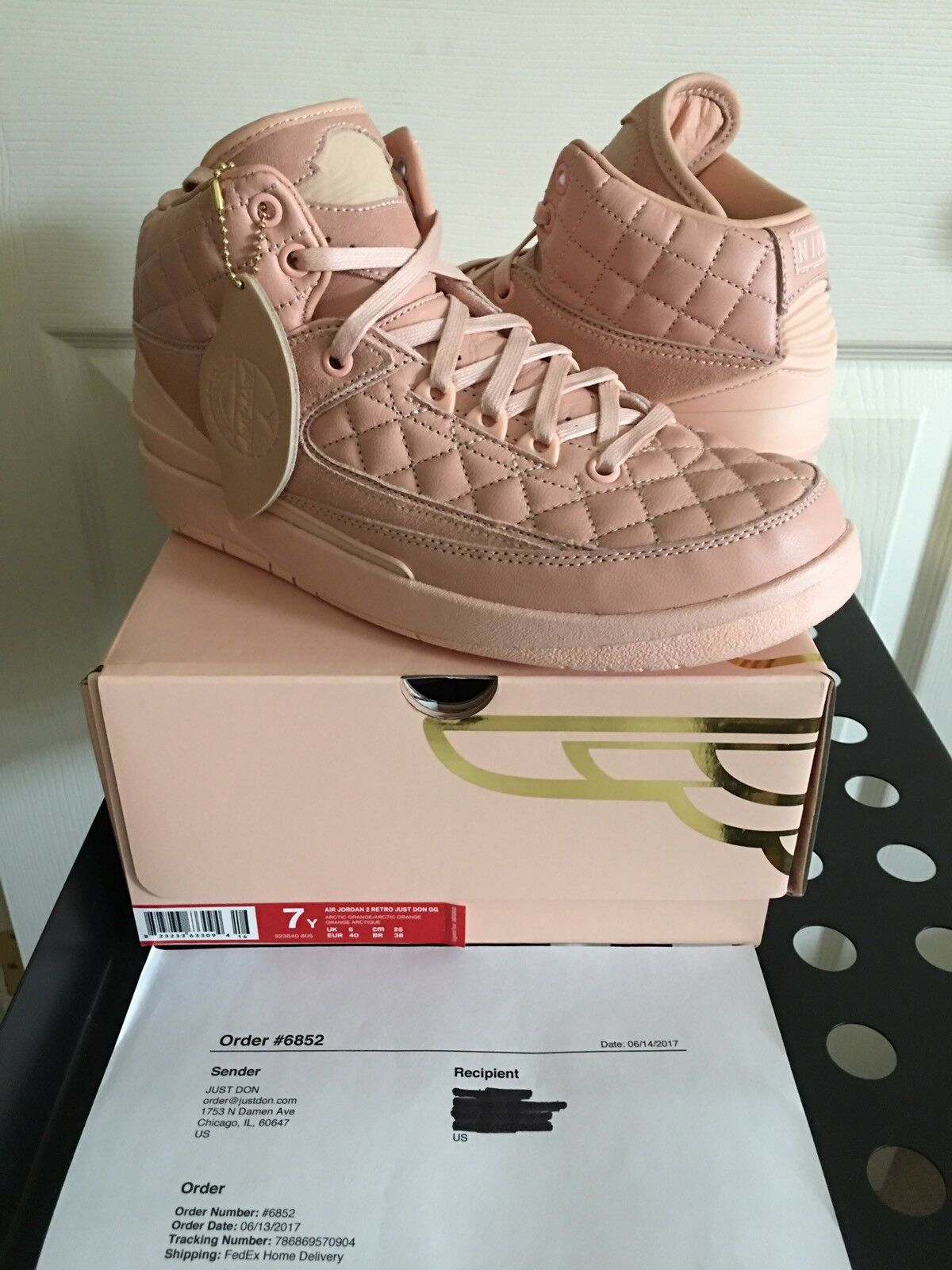 Nike Air Jordan Retro 2 Just Don Pink Arctic orange 100% Authentic W Receipt