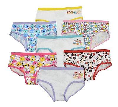 Tsum Tsum Assorted Prints 2T//3T Disney Toddler Girls/' Tsum 7 Pack Underwear