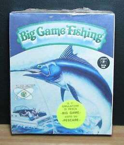 BIG GAME FISHING - Commodore 64 - NUOVO NEW OLD STOCK SEALED - 1991 Vintage - Italia - BIG GAME FISHING - Commodore 64 - NUOVO NEW OLD STOCK SEALED - 1991 Vintage - Italia
