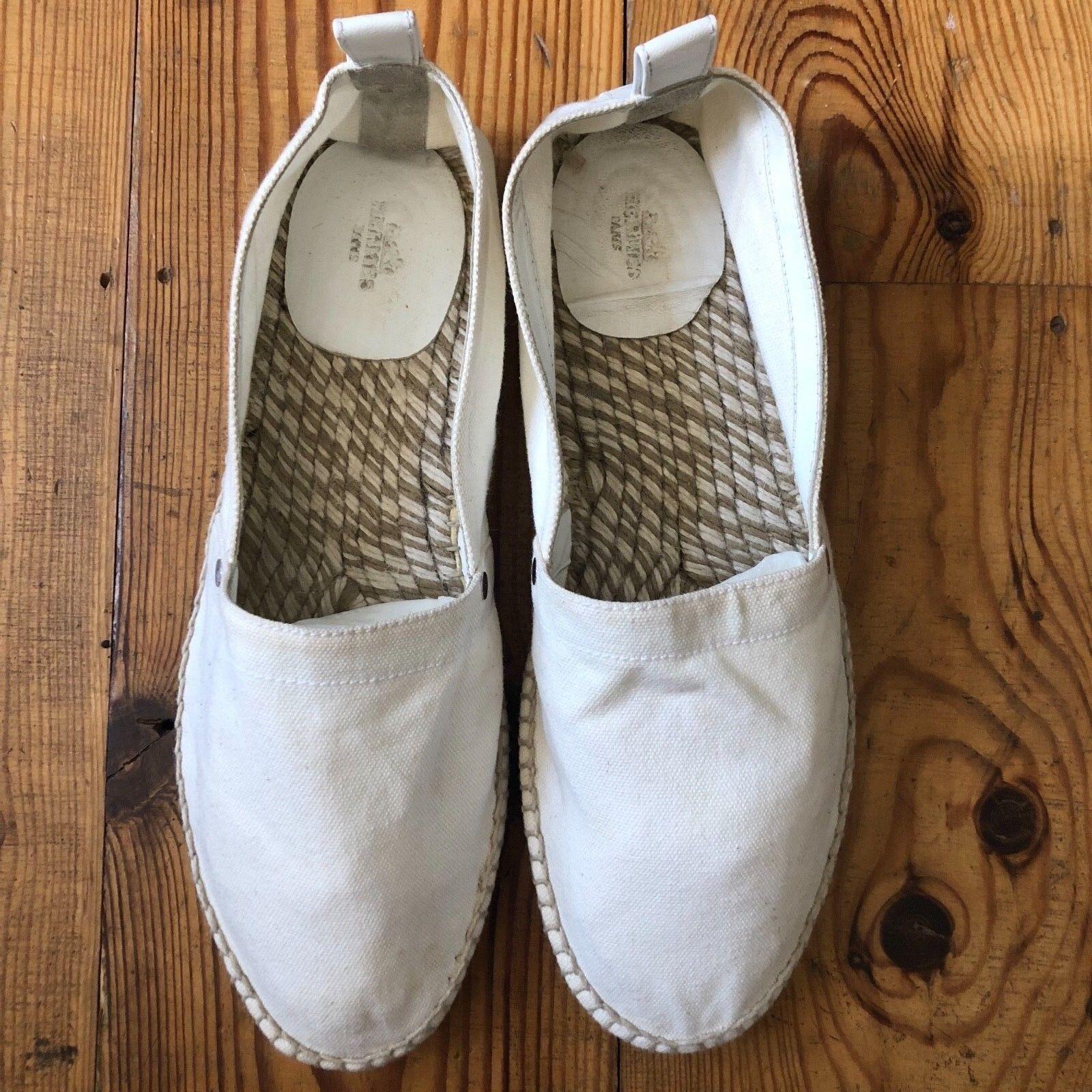 Molto cool Hermès bianco sporco RAP EUSEBIO Espadrillas SZ 44 RAP sporco 66d67c